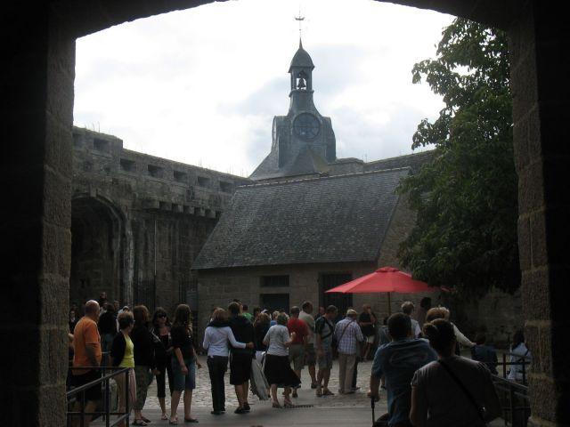 Entrée de la ville close de Concarneau en sud Bretagne