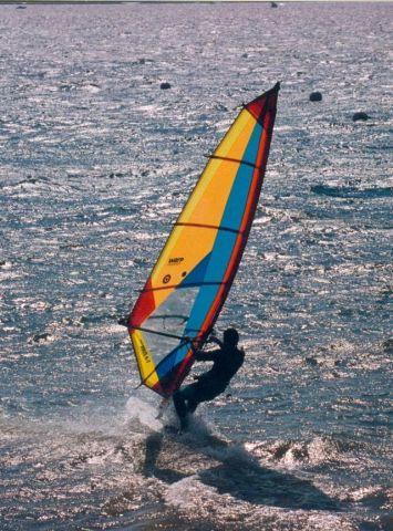 Planche à voile à l'école du Pouldu  Clohars Carnoët en Finistère  Bretagne sud
