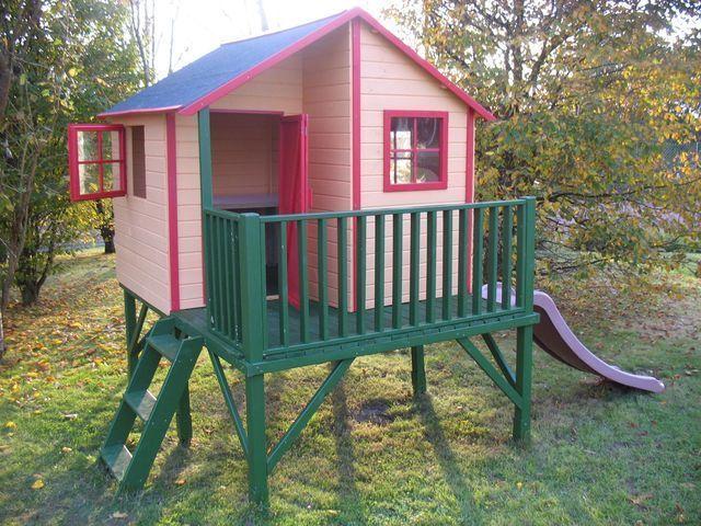 Cabane pour enfants sur parc des logis de penlan proche de à Proximité de Quimperlé bretagne sud